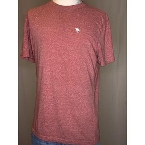 Abercrombie and Fitch Men's Red Pink T Shirt